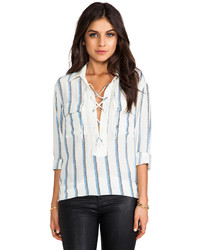 Knox experital stripe blouse medium 118481