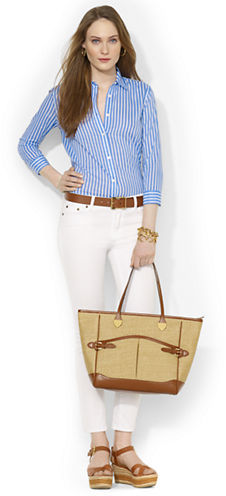 Lauren Ralph Lauren Striped Cotton Blouse