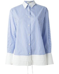 Aquilanorimondi striped panel shirt medium 189244