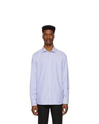 Ralph Lauren Purple Label Blue And White Striped Oxford Shirt