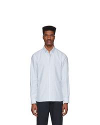 Eidos Blue Striped Oxford Shirt