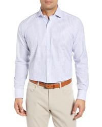 PETER MILLAR COLLECTION Chambray Stripe Sport Shirt