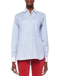 Current/Elliott Charlotte Gainsbourg X The Striped Button Down Shirt