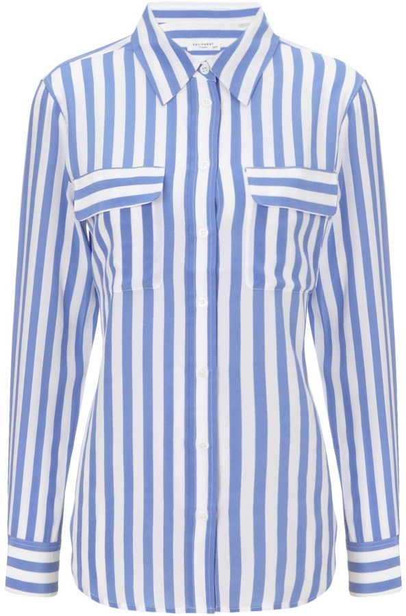 White and blue vertical striped dress shirt equipment for Where to buy a dress shirt