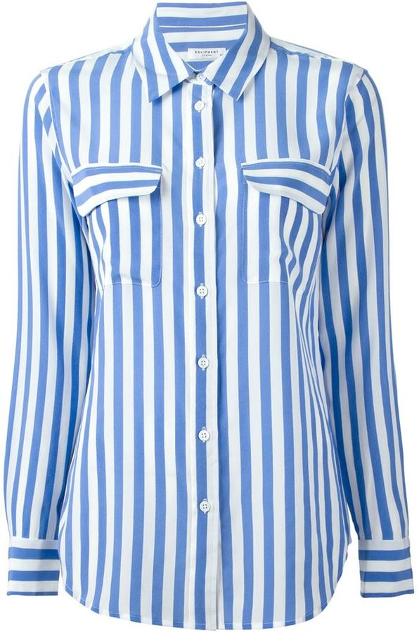 Equipment striped shirt where to buy how to wear for Vertical striped dress shirt
