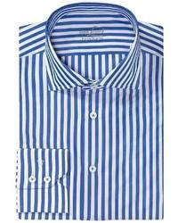 Van Laack Rivara Multi Stripe Shirt Spread Collar Long Sleeve Shirt