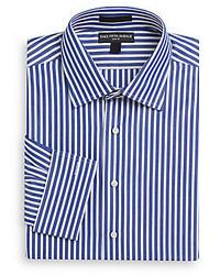 Slim fit candy stripe cotton dress shirt medium 177144