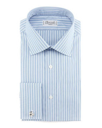 Charvet Striped French Cuff Dress Shirt Bluewhite