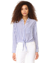 Val stripe button down shirt medium 3710204