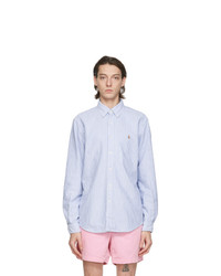 Polo Ralph Lauren Blue And White Oxford Striped Shirt