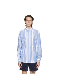 Polo Ralph Lauren Blue And White Striped Classic Fit Shirt