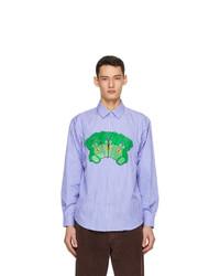 MSGM Blue And White Teddy Bear Shirt
