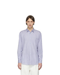 Comme Des Garcons SHIRT Blue Striped Poplin Shirt