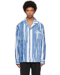 Feng Chen Wang Blue White Hand Painted Shirt