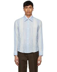 Second/Layer Blue White Multi Stripe Ancho Shirt