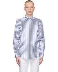 BOSS Blue White Striped Jango Shirt