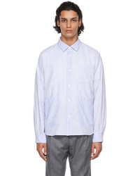 Officine Generale Blue White Striped Tony Shirt