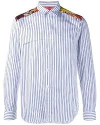Comme des Garcons Comme Des Garons Homme Plus Floral Yoke Striped Shirt