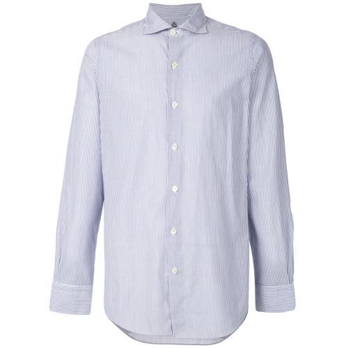 2b85812575 ... Finamore 1925 Napoli Long Sleeved Stripe Shirt ...