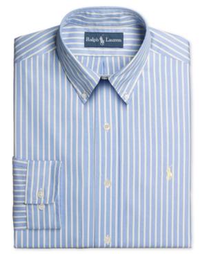Ralph lauren polo dress shirt custom fit blue and yellow for Blue and yellow dress shirt