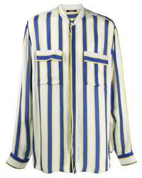 Balmain Striped Cupro Shirt