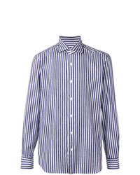 Barba Striped Point Collar Shirt