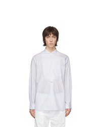 Junya Watanabe White And Blue Striped Shirt