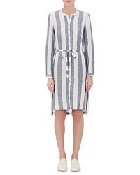Skin Skin Linen Cotton Striped Shirtdress