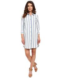 Striped shirtdress in light bluewhite medium 1317497
