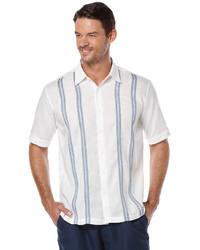 Cubavera short sleeve linen vertical stripe medium 647532