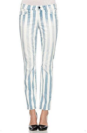 Joe's Jeans Joes Jeans Striped Skinny Ankle Jeans