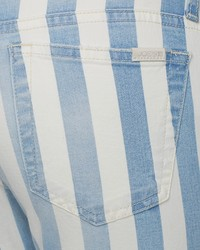 Joe's Jeans Striped Skinny Ankle In Baby Blues