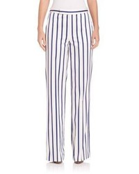 Striped wide leg pants medium 656708