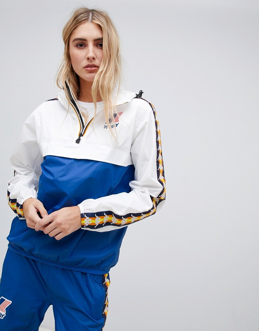 brand new hot products outlet store X Kappa Colour Block Rain Jacket
