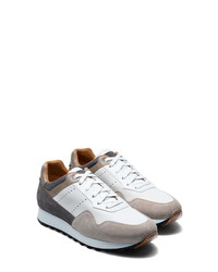 White and Brown Athletic Shoes