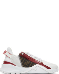 Fendi White Red Flow Sneakers