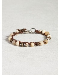 John Varvatos Bone African Trade Bead Bracelet