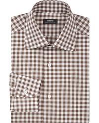 Fairfax Gingham Dress Shirt Brown