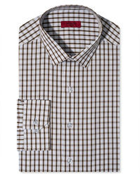 02bfb141299e White and Brown Gingham Dress Shirts for Men | Men's Fashion ...