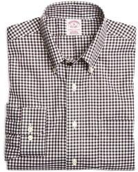 Brooks Brothers Supima Cotton Non Iron Regular Fit Gingham Sport Shirt