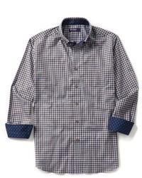 Daniel Cremieux Cremieux Long Sleeve Gingham Herringbone Twill Woven Shirt