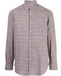 Brunello Cucinelli Mini Check Pattern Shirt