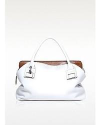 Francesco Biasia Vendome White Leather Tote