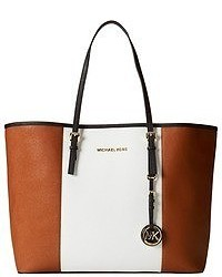 MICHAEL Michael Kors Michl Michl Kors Jet Set Travel Center Stripe Medium Travel Tote
