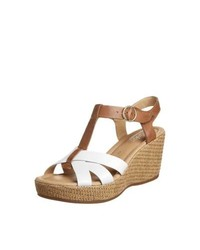 Gabor Wedge Sandals White