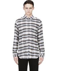 Diesel Brown White Flannel Plaid Shirt