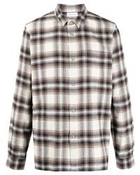 John Elliott Check Print Long Sleeved Shirt