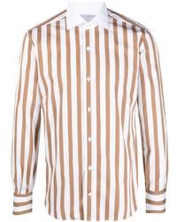 Eleventy Striped Long Sleeved Shirt