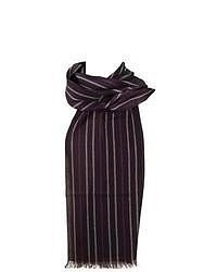 Dents two tone striped scarf thistle medium 48717