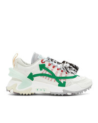 Off-White And Green Odsy 2000 Sneakers